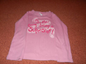 Next Pink Long Sleeved Girl's Top