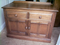 ERCOL cabinet/sideboard/tv stand in Golden Dawn finish REDUCED