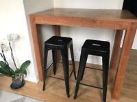 black steel stool