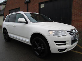 2010 VOLKSWAGEN TOUAREG ALTITUDE DIESEL AUTO WHITE 69,000 MILES Part exchange available / All cards