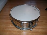 "14"" Snare Drum With Remo Heads."