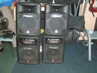 Speakers Peavey Impulses Full Set, 2 Tops and 2 Subs Very Good Condition