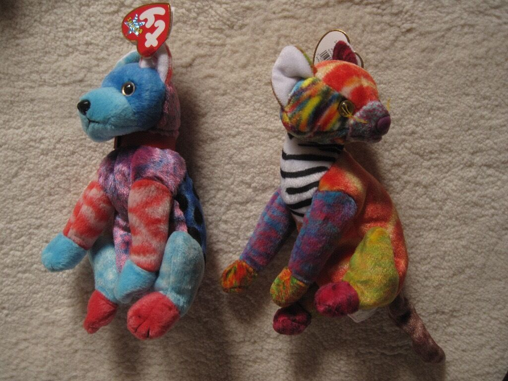 f22ac85322c Ty Beanie Baby - multicoloured dog   cat
