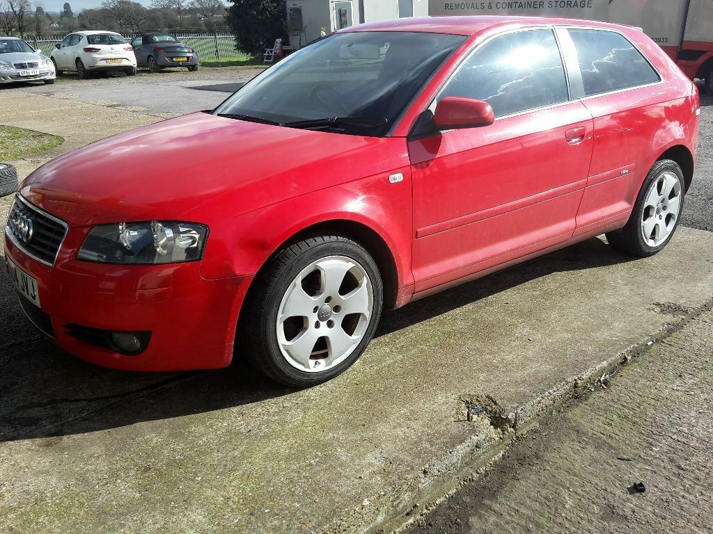 2004 audi a3 8p 2 0 tdi sport s line 3 doors 140 bhp red. Black Bedroom Furniture Sets. Home Design Ideas