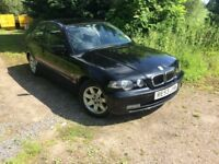 2003 BMW Compact 318 ti in Black, Spares or repair, Drive Away!