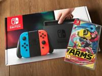 Brand new Nintendo Neon switch and arms game