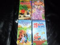 VHS tapes for kids including my little pony,wizard of oz
