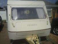 Elddis two berth caravan and awning