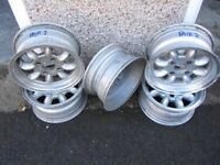 SUPERLITE STYLE ALLOY WHEELS (5) Ford fitting 6x13 inch