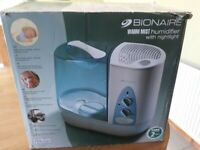 BIONAIRE Warm Mist Humidifier with nightlight