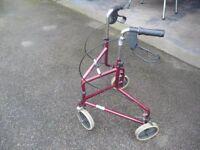 3 Wheel Rollator walking aid.