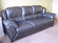 TOP QUALITY 4 SEATER SOFA ITALIAN LEATHER~HEAVY~ COST £1800. WILL SELL £450 ONO