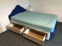 Double Divan Bed and headboard.