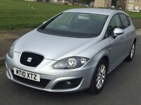 SEAT LEON 2010 1.6 TDI SE AUTO DSG,98K FSH,1 OWN,HPI CLEAR,MINT CONDITION,DRIVE FAULTLESS,LIKE GOLF