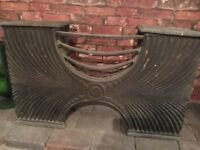 Victorian cast iron fire grate