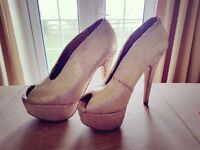 Gold Size 5 High Heeled Shoes from Dune