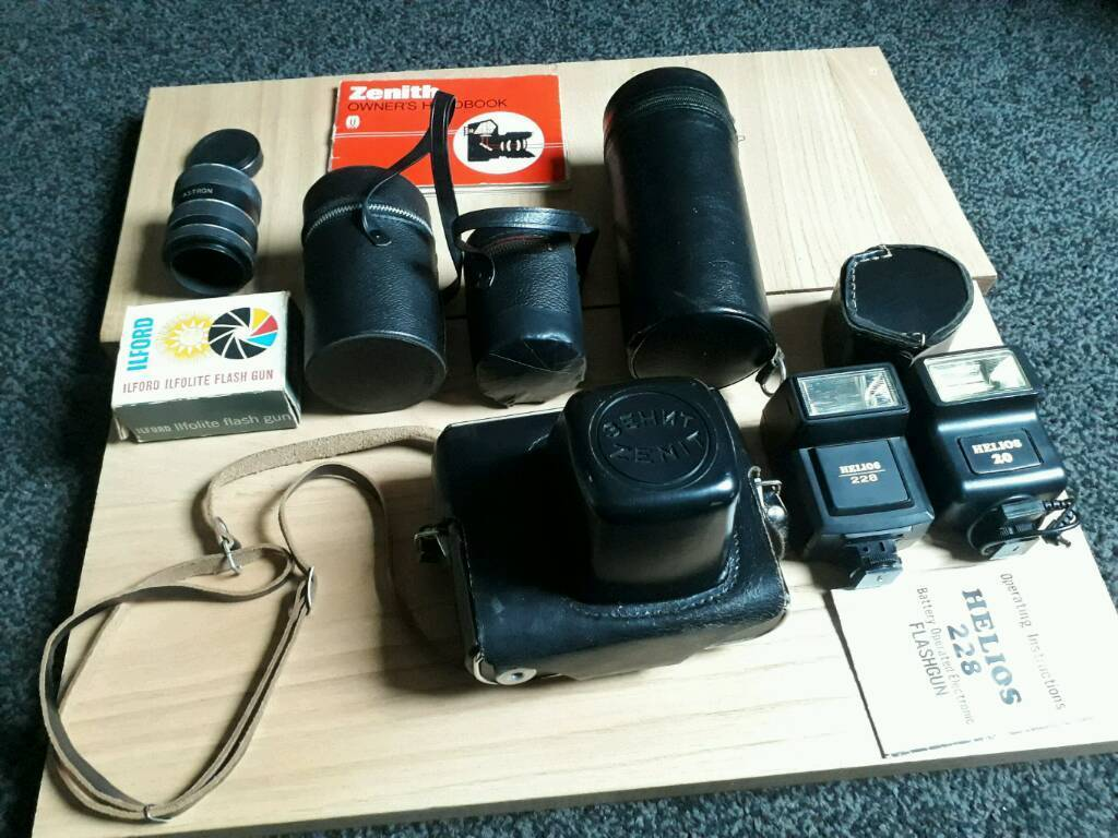 Zenit 35mm camera with extras