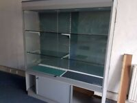 2 Glass Display Cases (Medium and Large size). As pair or Individually.