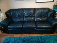 3 seater genuine leather reclining g sofa