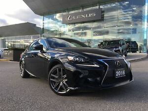 2016 Lexus IS 350 1 Owner AWD Nav BUcam Lthr Btooth Sroof