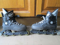 2 pairs (Batman and white) inline skates