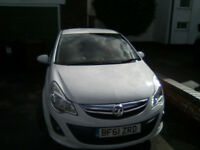 Very Tidy Vauxhall Corsa SRI White full mot 2 owners full service history