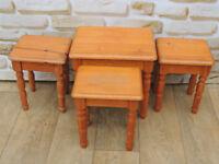 4 Bedside / Side Tables Pine (Delivery)