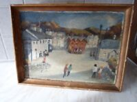 old painting of Llanfair Th near Abergele north wales.
