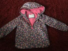Baby girls ditsy floral coat from mothercare 18/24 Months