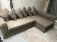 FREE DELIVERY IKEA MOHEDA BROWN L-SHAPED SOFA BED GOOD CONDITION