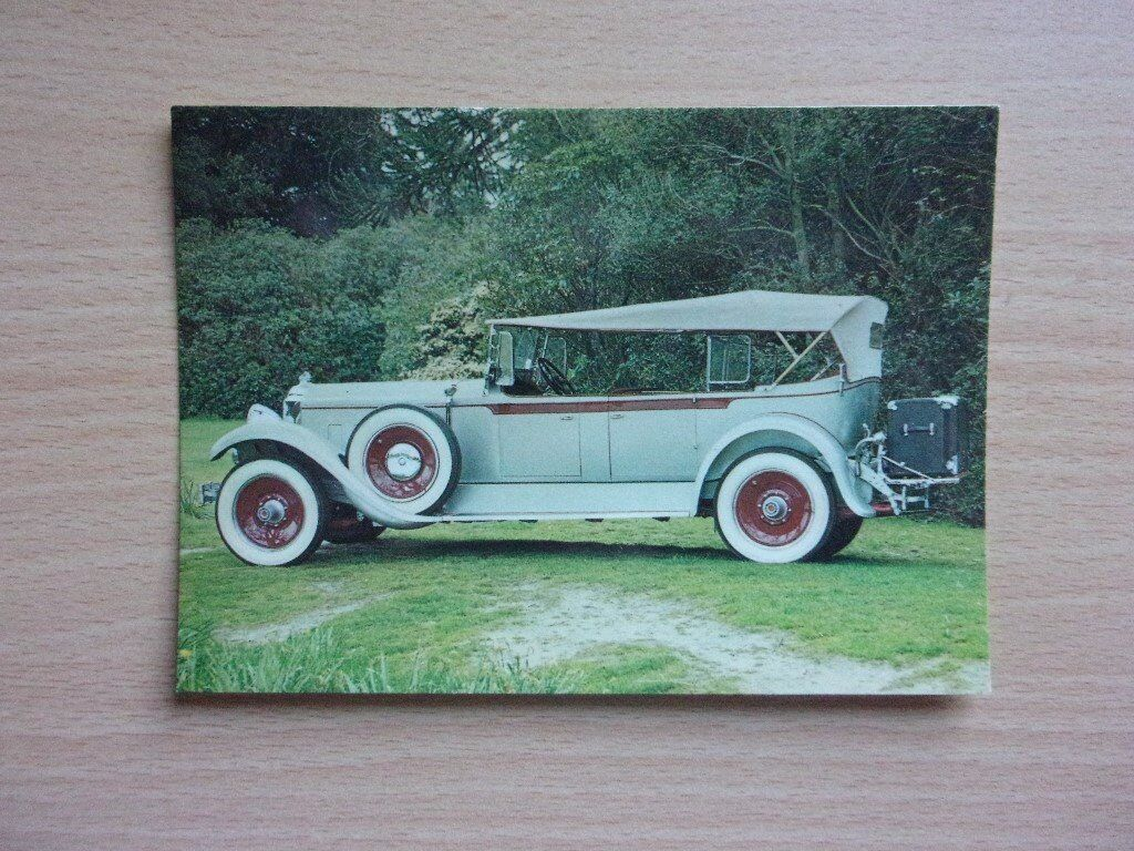 VINTAGE 1929 PACKARD 640. CLASSIC CARS. VERY CLEAN REAL PHOTOGRAPH POSTCARD.