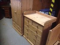 Solid pine children's bedroom set