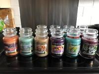 Yankee candles for sale large jars £16 votives £1 tarts £1