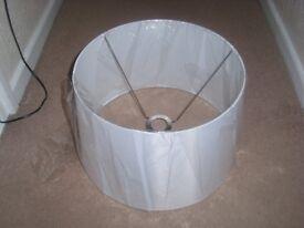 Large White Circular Lamp Shade