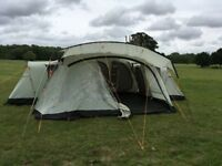 Vango Nile 800 8 Berth Tent – Complete Setup – Lots Of Extras - Hardly Used !