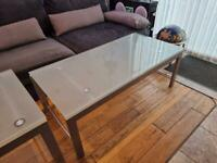 Big coffee glass table set of x5 tables