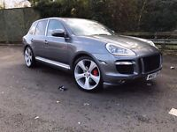 2003 PORSCHE CAYENNE TURBO AUTO SILVER 520bhp modified facelift bumper/grills