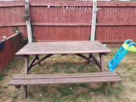 Large picnic bench