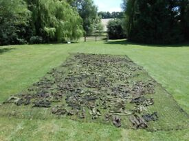 Military British Army Vehicle Hessian Camouflage Net, Camo Scrim Net, Original and Vintage