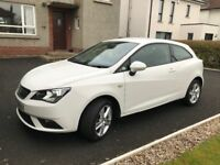 2014 Seat Ibiza 1.4 3 door in the best colour white only 39k miles mint condition