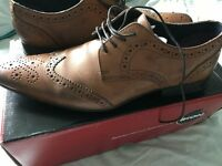 ikon tan hugo wing brogue shoes size 10 £35 ONO