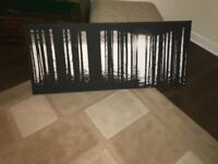 URGENT! Black and white wood themed canvas picture!