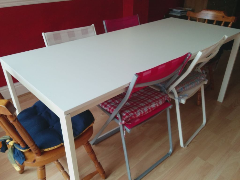 ikea melltorp dining table sz 175 x 75 x74h table only in glenfield leicestershire gumtree. Black Bedroom Furniture Sets. Home Design Ideas