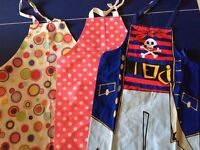 Selection of Childrens' Cooking/Activity Aprons