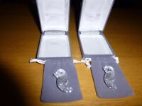 Waterford Crystal Sea Horse Brooches