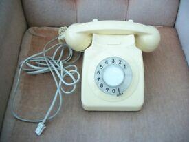 OLD BT/GPO CREAM DIAL HOUSE PHONE TELEPHONE