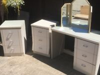 Dressing table with beside cabinets