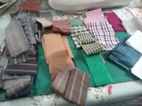 Fabric small rectangles mixed colours and fabrics