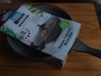 NEW Salter 'Marble Collection' pan WOK with Glass Lid 28cm RRP £50