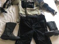 Motorbike clothing.